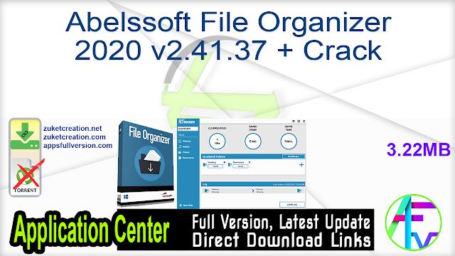 Abelssoft File Organizer Crack 4.0.29671 With 2021 Latest Version Full Download